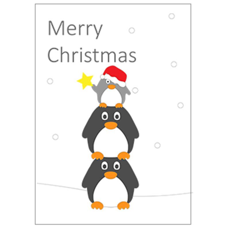 5 x Little Penguin Christmas Cards - Tower | Little Penguin