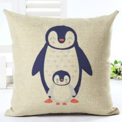 Penguin and Baby Cushion Cover