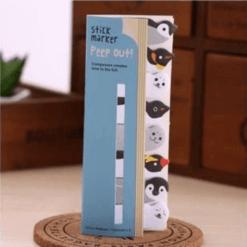 pop out penguin sticky notes