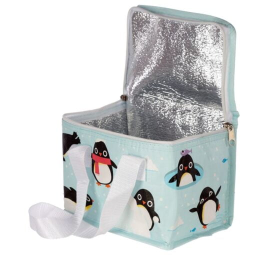 Woven Penguin Cool Bag Lunch Bag