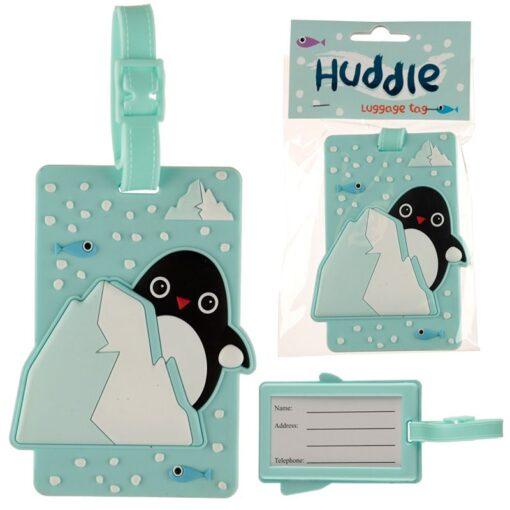 Huddle Penguin PVC Luggage Tag